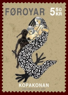Faroese_stamp_584_the_seal_woman